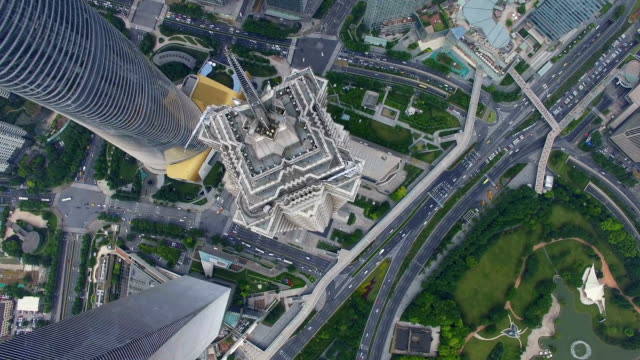 Aerial View of Lujiazui business center/Shanghai.China.