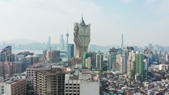 aerial view of macau city - macao stock videos & royalty-free footage