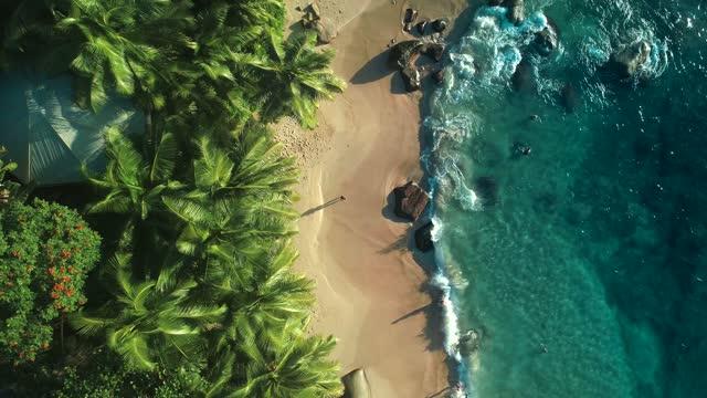 vídeos y material grabado en eventos de stock de aerial view of mahe island seychelles - drone 4k - televisión de ultra alta definición