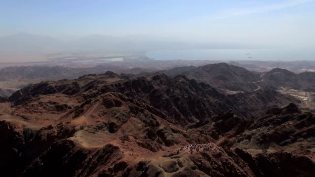 Aerial view of Majestic Eilat Mountains