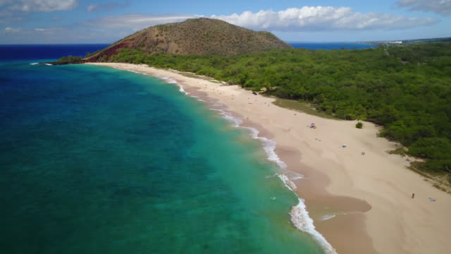 Aerial View of Makena Beach, Hawaii
