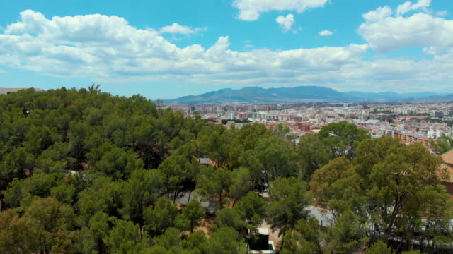 aerial view of malaga (costa del sol) - silvestre stock videos & royalty-free footage
