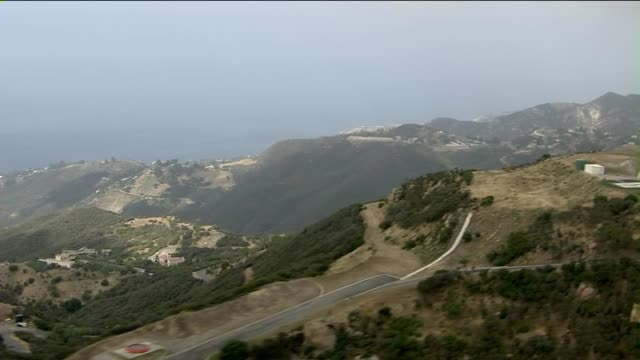 Aerial View Of Malibu Hills