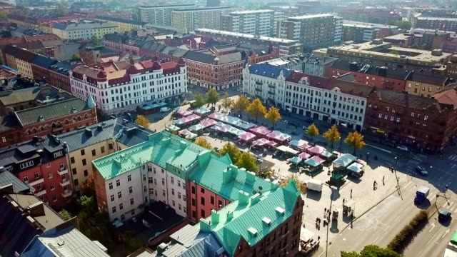 aerial view of malmo - sweden - sweden stock videos & royalty-free footage