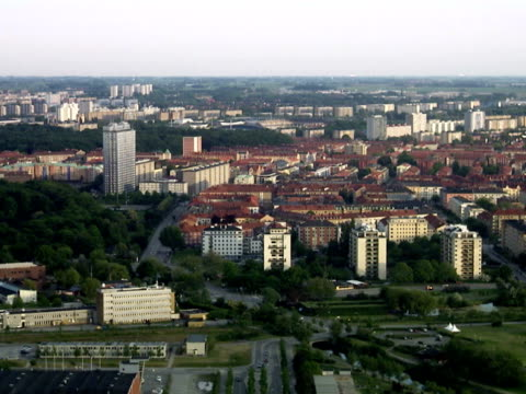 Aerial view of Malmo Sweden.