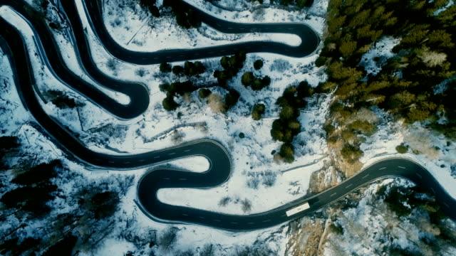 Aerial view of Maloja pass in Switzerland