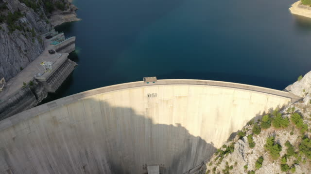 aerial view of manavgat dam - dam stock videos & royalty-free footage