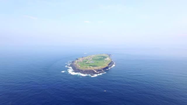 Aerial view of Marado Island (Korean National Monument no. 423)
