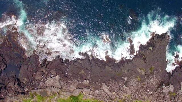 Aerial view of Marado Island (Korean National Monument no. 423) with Seascape