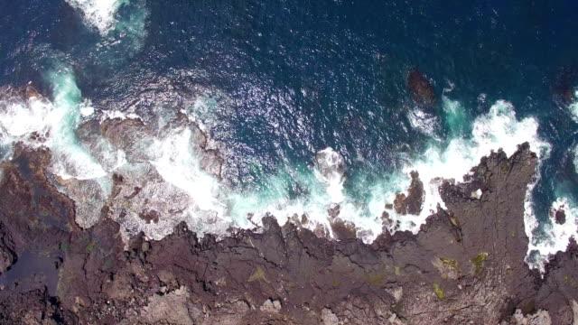 vidéos et rushes de aerial view of marado island (korean national monument no. 423) with seascape - partie d'une série