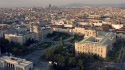 Aerial view of Maria-Theresien-Platz in Viena