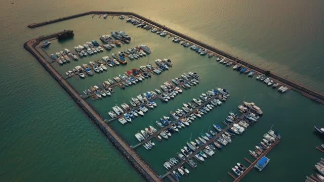 Vue aérienne du port de plaisance, Pattaya