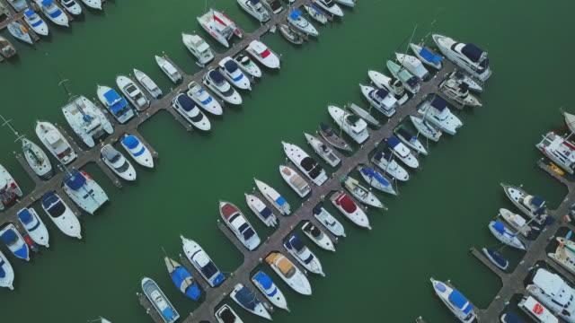 Aerial view of marina,Pattaya