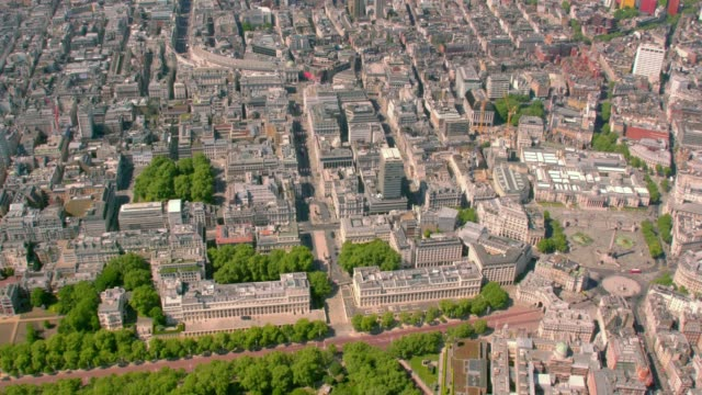 aerial view of mayfair, london, uk. 4k - queen royal person stock videos & royalty-free footage