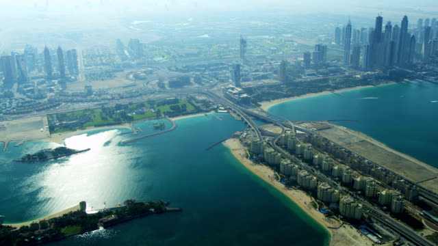 Aerial view of Media City Dubai