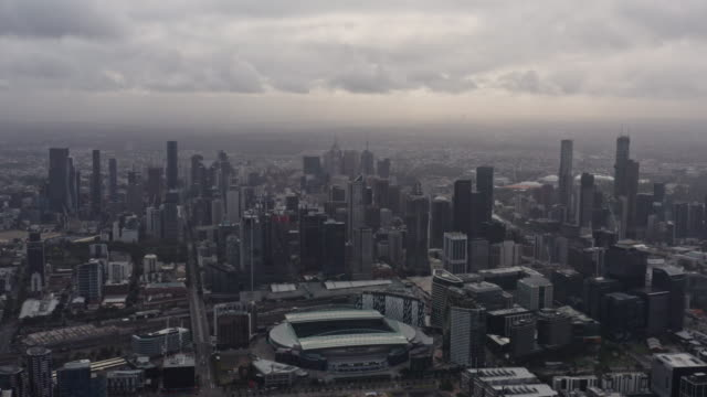 aerial view of melbourne city at daytime - tall high stock videos & royalty-free footage