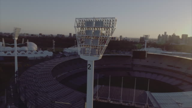 aerial view of melbourne cricket ground. melbourne victoria australia - sport of cricket stock videos and b-roll footage