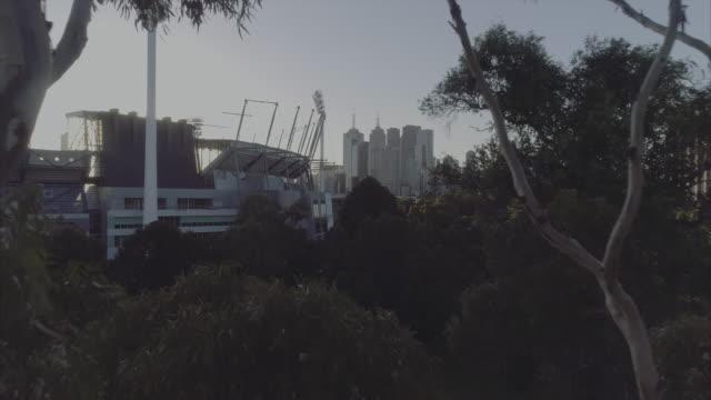 Aerial view of Melbourne Cricket Ground. Melbourne Victoria Australia
