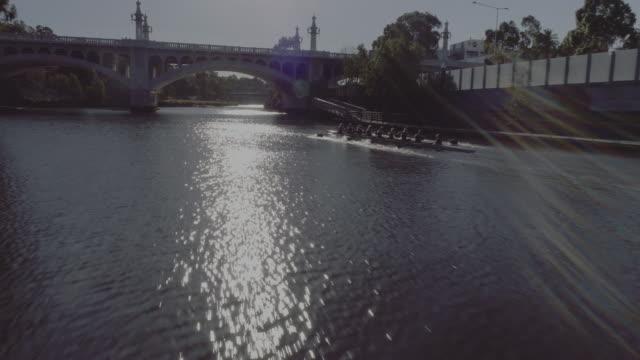 aerial view of melbourne's church street bridge. melbourne australia - arch bridge stock videos & royalty-free footage