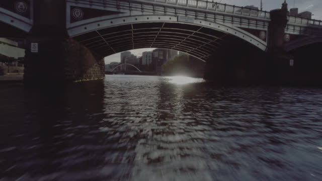 Aerial view of Melbourne's Princes Bridge. Melbourne Australia