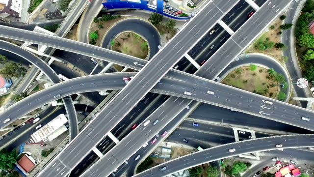 aerial view of mexico city highways - major road stock videos & royalty-free footage
