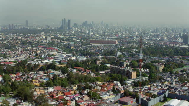 aerial view of mexico city with skyscrapers - mid distance stock videos & royalty-free footage
