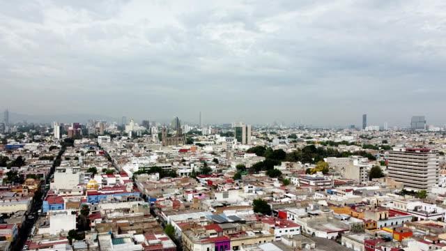 aerial view of mexico - guadalajara / jalisco - mexico stock videos & royalty-free footage