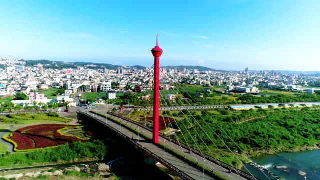 aerial view of miaoli city (hakka city) 360 degree move , taiwan - taiwan stock videos and b-roll footage