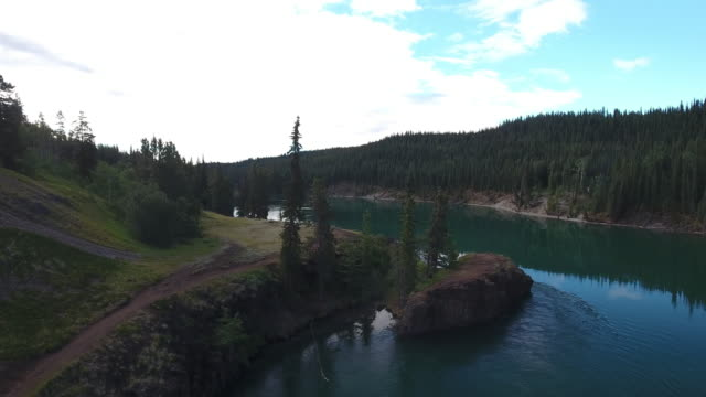 aerial view of miles canyon - whitehorse stock videos and b-roll footage