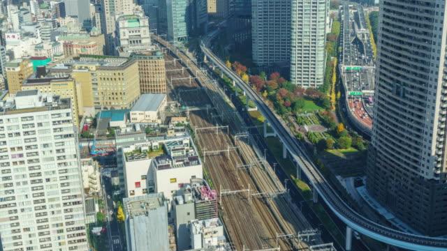 T/L WS: Vue aérienne de Minato-ku, Tokyo, Japon.