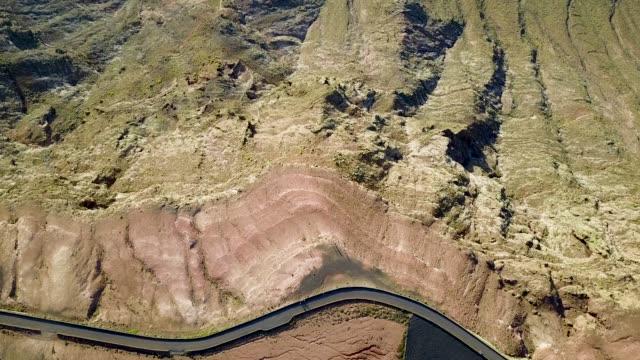 ラ グラシオーザ、ランサローテ島、カナリア諸島、スペイン、大西洋、ヨーロッパにミラドール デル リオの空撮