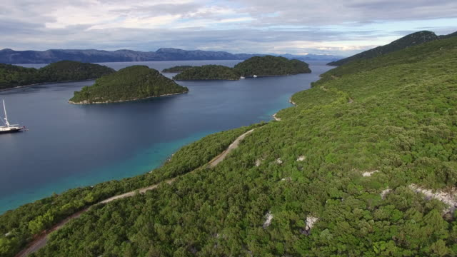 Aerial view of Mljet National Park, Croatia