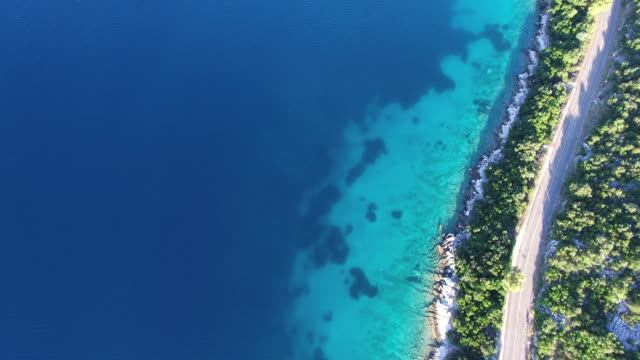 Aerial view of Mljet National Park, Croatia