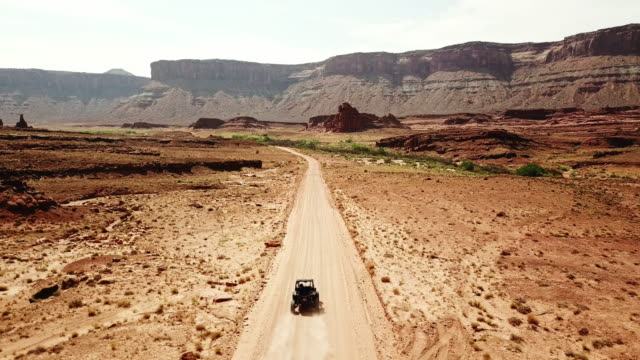 aerial view of moab - 4x4 stock videos and b-roll footage