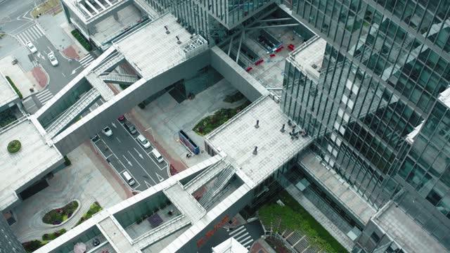 vídeos y material grabado en eventos de stock de vista aérea de la arquitectura moderna, shenzhen, china. - complejidad