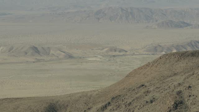 Aerial view of Mojave Desert mountain range Nevada