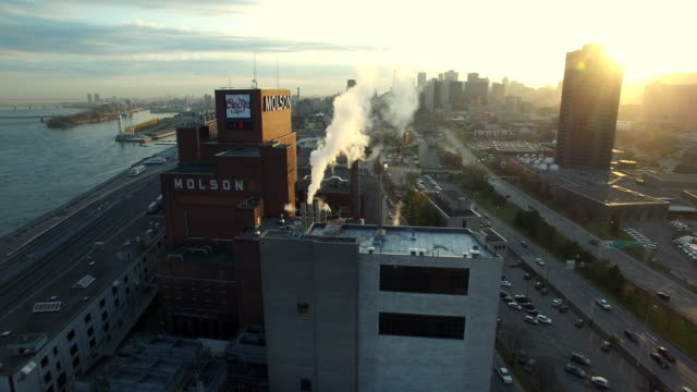 Aerial view of Molson Brewery in Montreal
