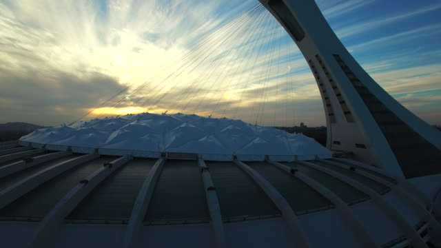 Aerial view of Montreal Olympic Stadium
