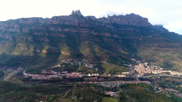 Aerial view of Montserrat, Spain
