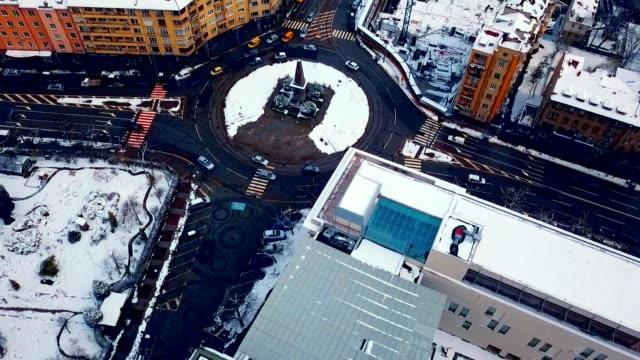 Aerial View of Monument to Vasil Levski / Sofia - Bulgaria