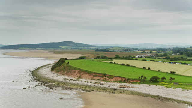 aerial view of morecambe bay - lancashire stock videos & royalty-free footage