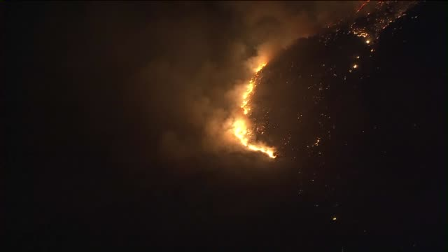 KTLA Aerial View of Moreno Valley at Night on July 1 2015 The Merwin Fire was first reported around 838 pm in the area of Merwin Street and Campbell...