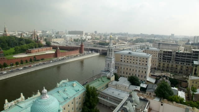 Aerial view of Moskva River