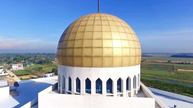 aerial view of mosque in thailand - songkhla province stock videos and b-roll footage