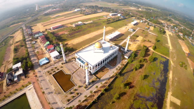 aerial view of mosque - place of worship stock videos & royalty-free footage