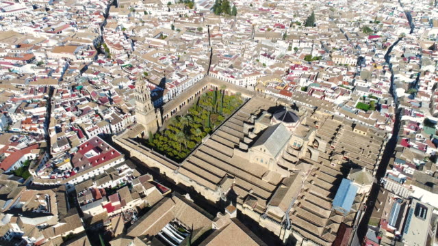 Aerial view of Mosque-Cathedral of Cordoba