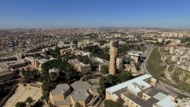 aerial view of mount scopus/ jerusalem, israel - jerusalem stock videos and b-roll footage