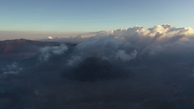 aerial view of mount semeru volcano, mount bromo, east java, indonesia - mount semeru stock videos & royalty-free footage