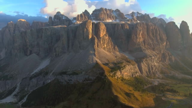 Aerial view of Mountain at sunset