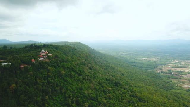 Aerial view of mountain at Wat Pha Tak Suea in Nongkhai, Thailand